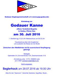 Godauer Kanne Ausschreibung 2016
